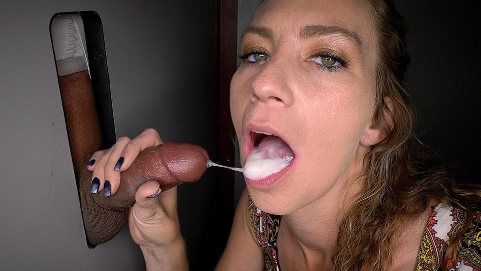 Gloryhole milf cum filled